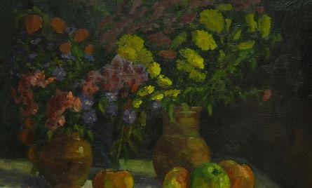 Цветы и фрукты. Этюд